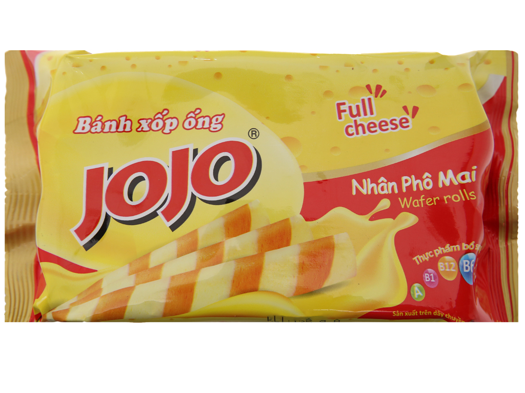 Bánh xốp ống nhân phô mai Jojo gói 125g 2
