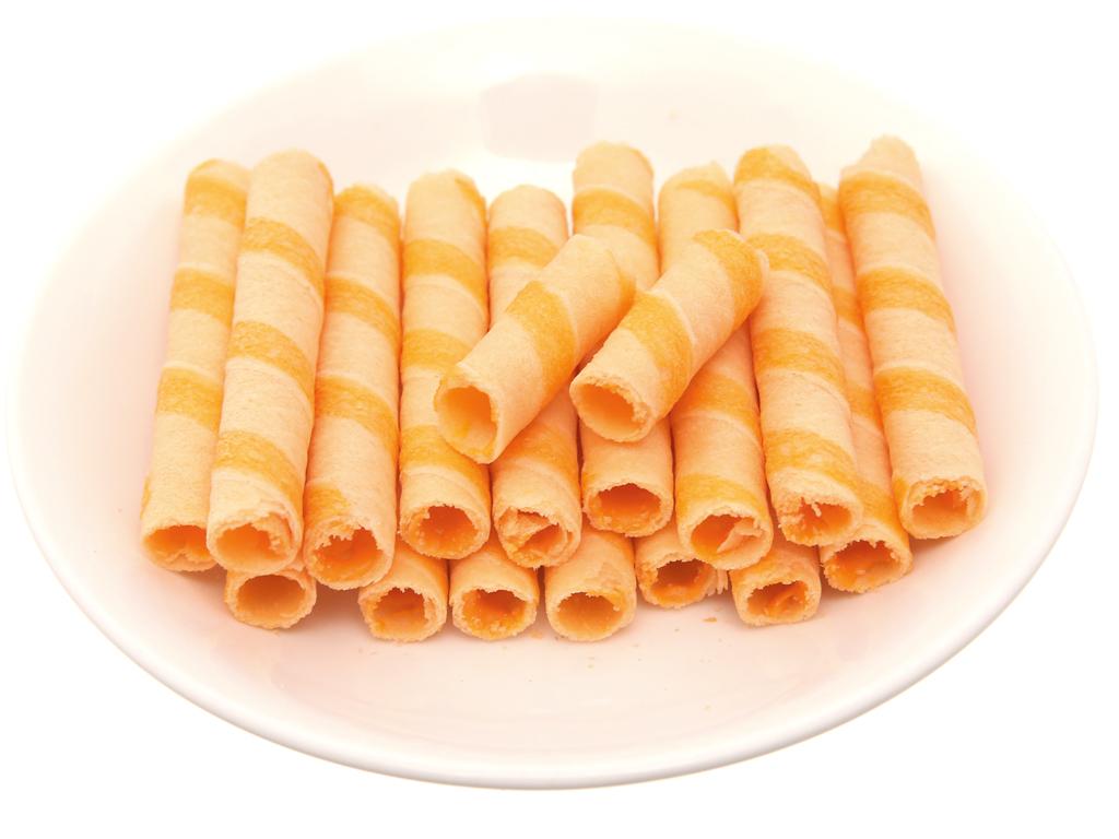 Bánh xốp ống nhân phô mai Jojo gói 125g 4