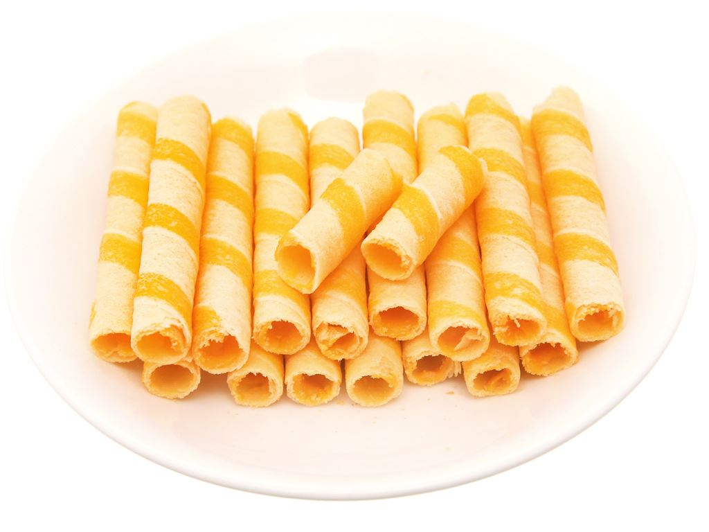 Bánh xốp ống nhân phô mai Jojo gói 125g 8