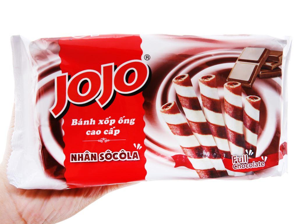 Bánh xốp ống nhân sô cô la Jojo gói 125g 3