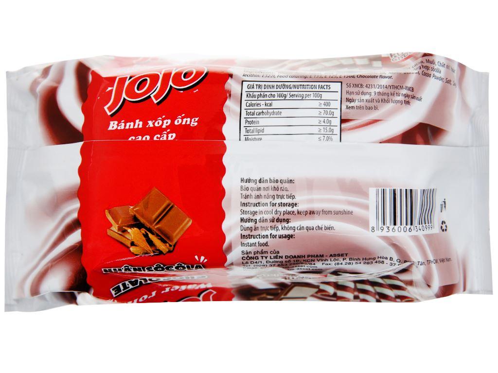 Bánh xốp ống nhân sô cô la Jojo gói 125g 2