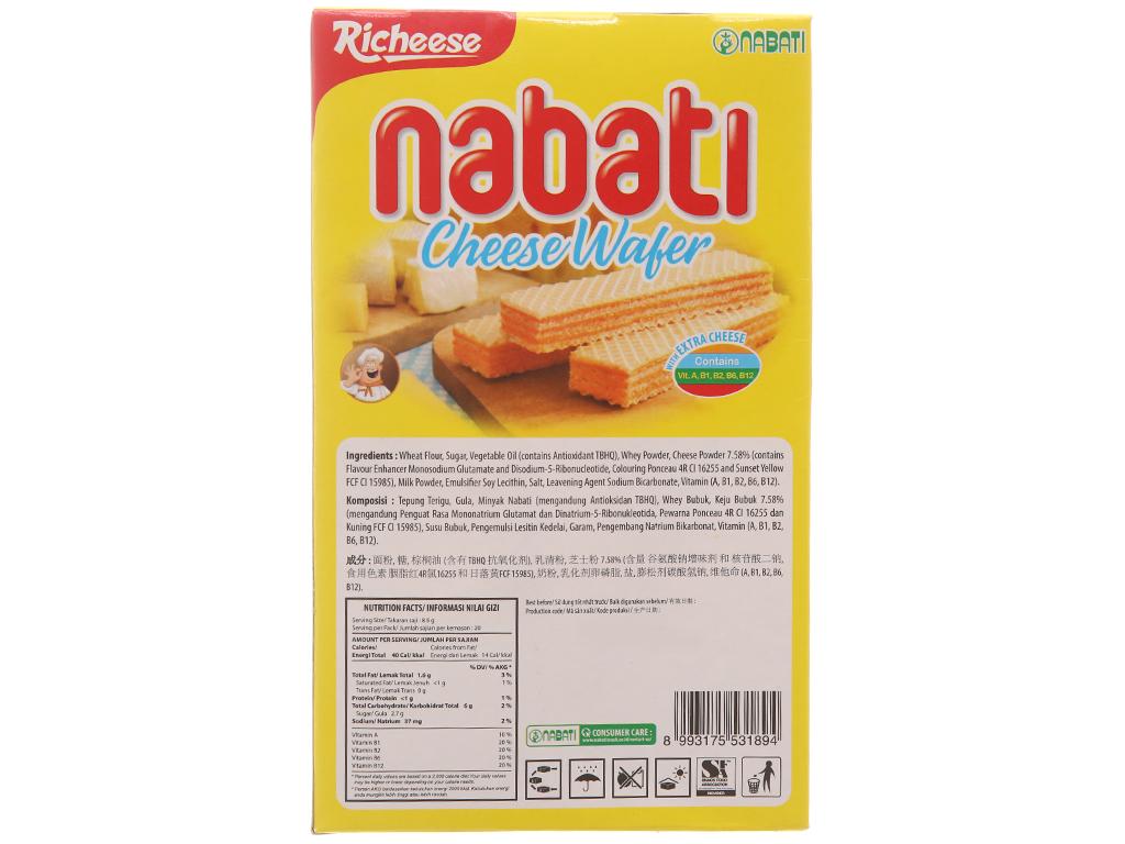 Bánh xốp nhân phô mai Nabati hộp 170g 2