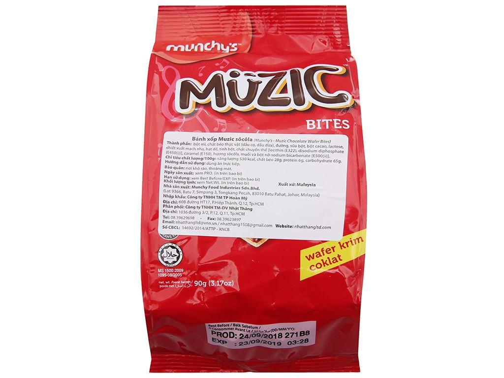Bánh xốp socola Muzic túi 90g 2