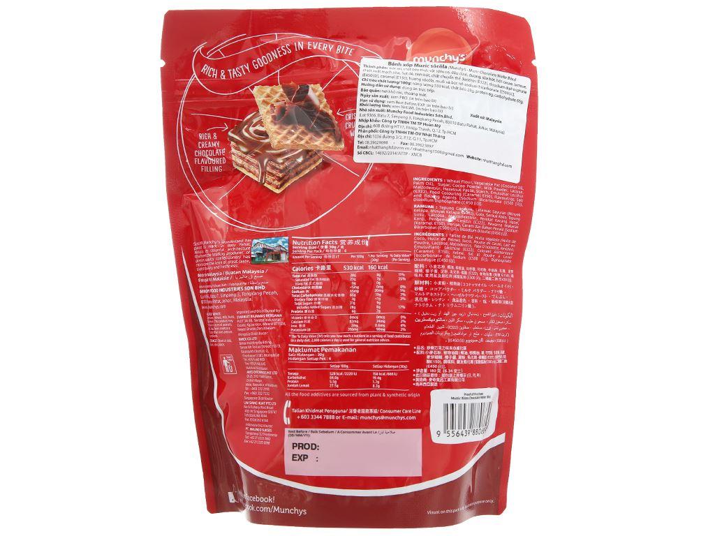Bánh xốp socola Muzic túi 180g 2
