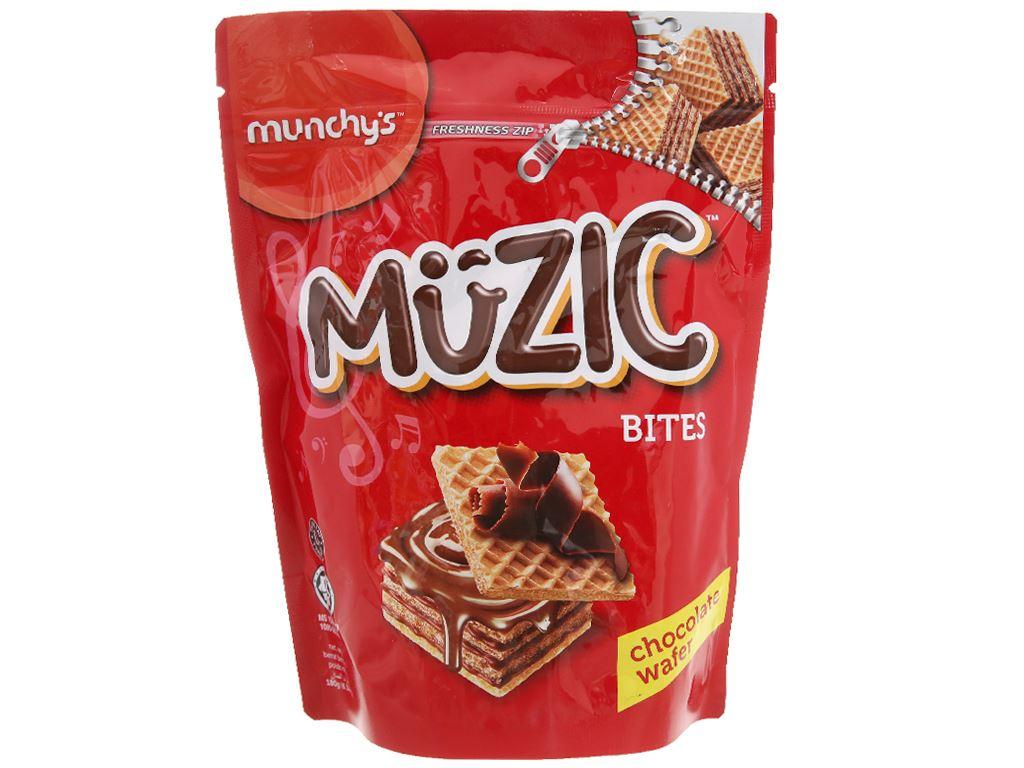 Bánh xốp socola Muzic túi 180g 1