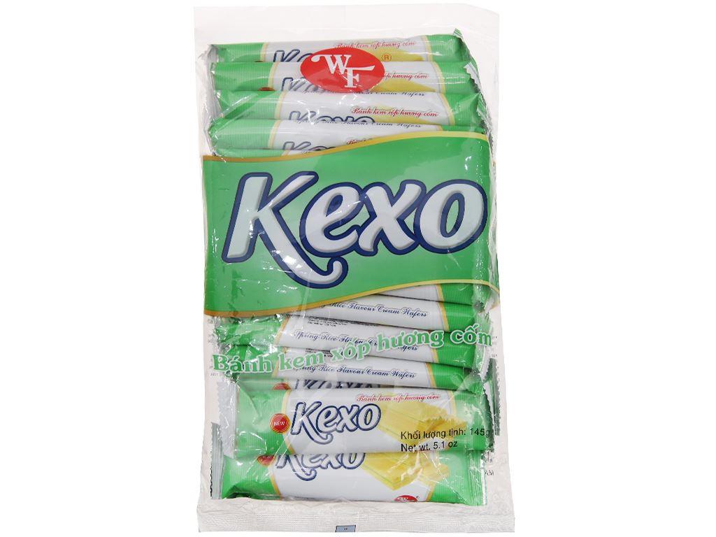 Bánh kem xốp hương cốm Kexo túi 145g 1