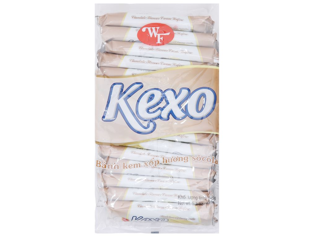 Bánh kem xốp hương socola Kexo gói 145g 1