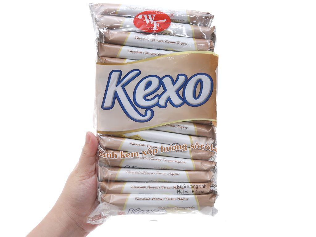 Bánh kem xốp hương socola Kexo gói 145g 3