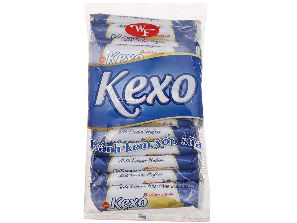 Bánh kem xốp sữa Kexo gói 145g 1