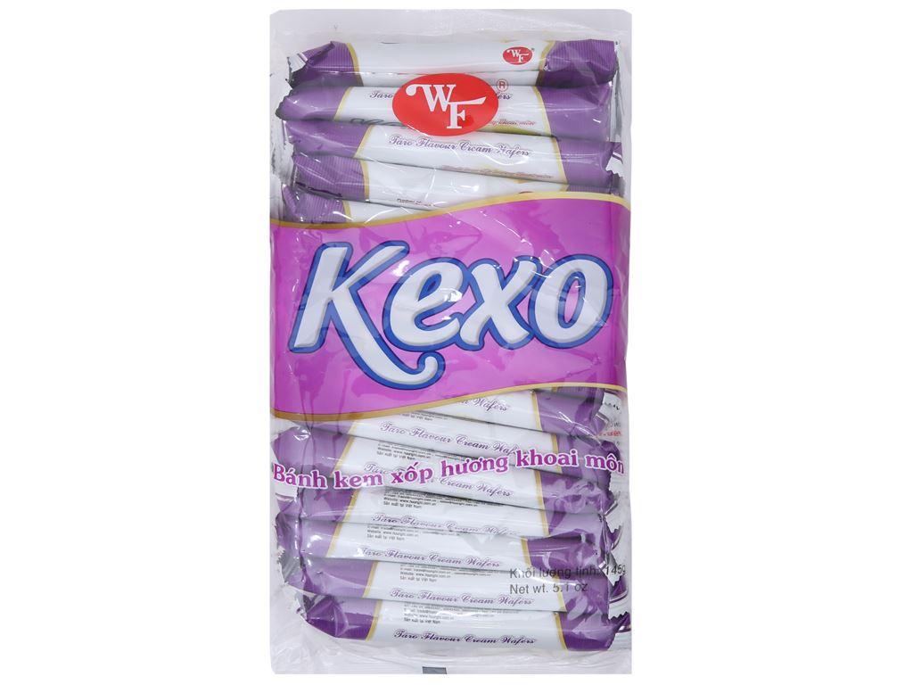 Bánh kem xốp hương khoai môn Kexo gói 145g 1