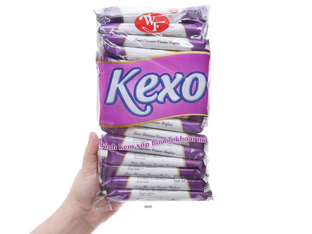 Bánh kem xốp hương khoai môn Kexo gói 145g 3