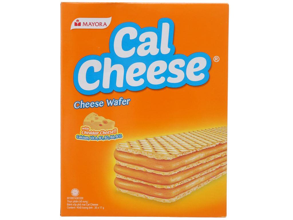 Bánh xốp nhân phô mai Cal Cheese hộp 340g 1