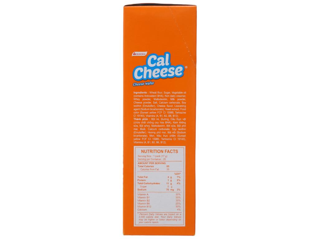 Bánh xốp nhân phô mai Cal Cheese hộp 340g 2