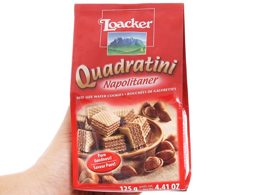 Bánh xốp nhân kem hạt dẻ Loacker Quadratini gói 125g 4