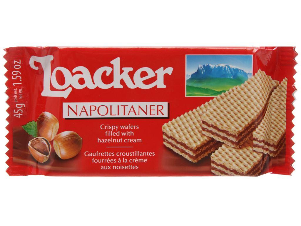 Bánh xốp nhân kem hạt dẻ Loacker Classic gói 45g 1