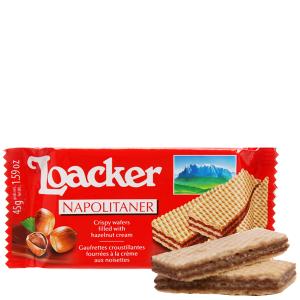 Bánh xốp nhân kem hạt dẻ Loacker Classic gói 45g