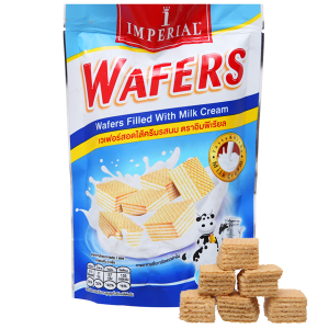 Bánh xốp nhân kem sữa Imperial Wafers gói 80g