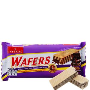 Bánh xốp nhân kem socola Imperial Wafers gói 60g