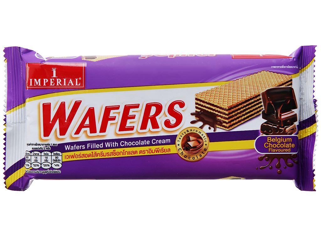 Bánh xốp nhân kem socola Imperial Wafers gói 60g 2