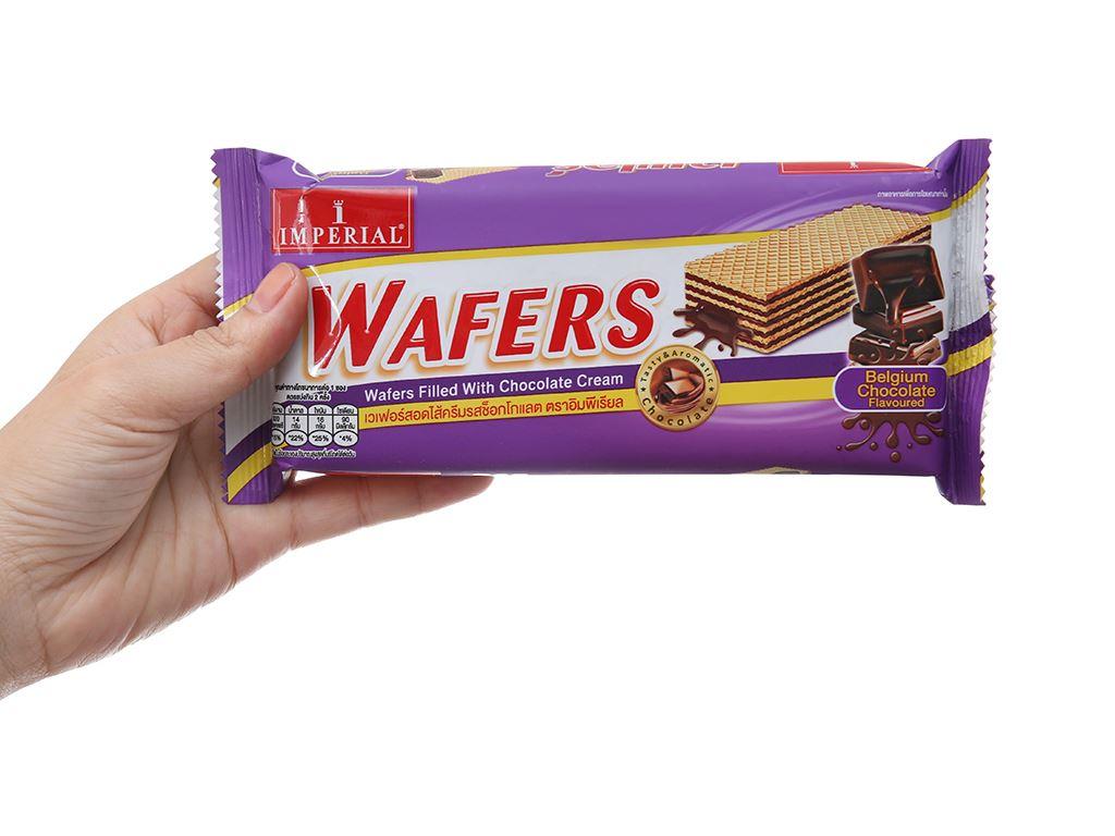 Bánh xốp nhân kem socola Imperial Wafers gói 60g 5