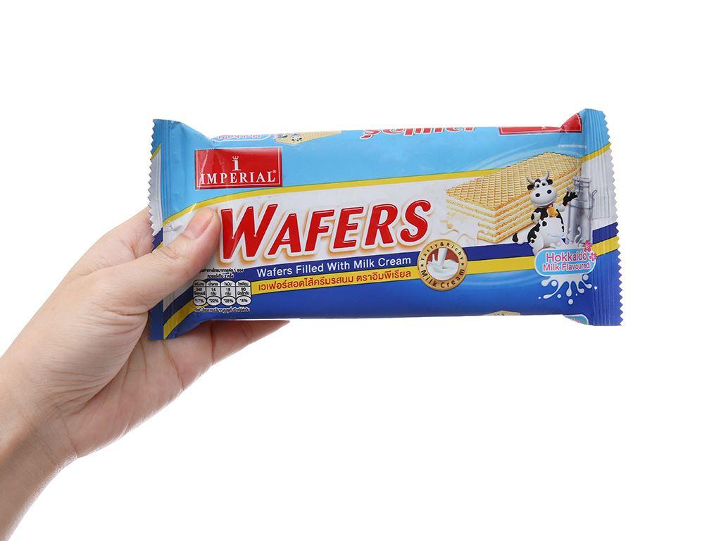 Bánh xốp nhân kem sữa Imperial Wafers gói 60g 3