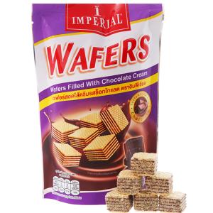 Bánh xốp nhân kem socola Imperial Wafers túi 80g