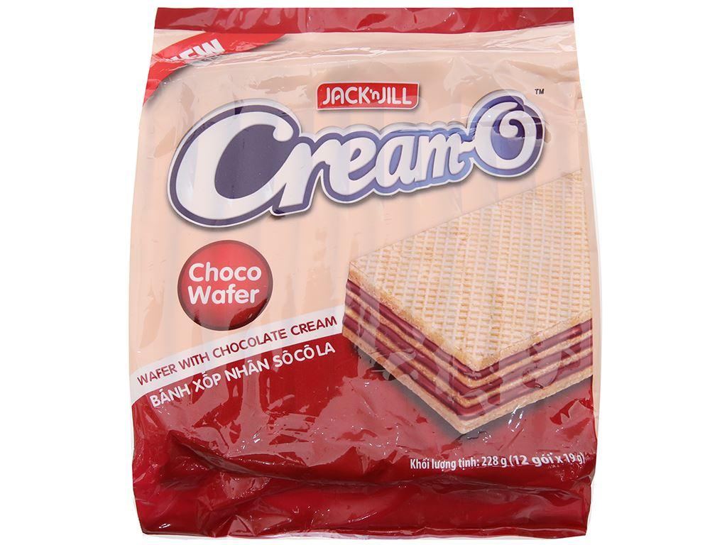 Bánh xốp nhân socola Cream-O gói 228g 1