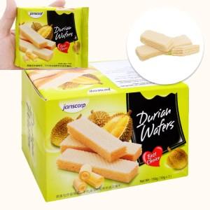 Bánh xốp sầu riêng Janscorp hộp 150g