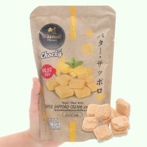 Bánh xốp kem bơ Sapporo Chocky gói 80g