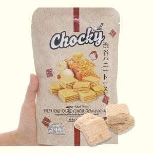 Bánh xốp vị bánh mì nướng mật ong Chocky gói 80g