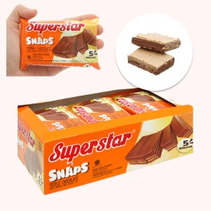Bánh xốp phủ kem socola Superstar hộp 336g