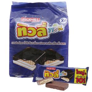 Bánh xốp Jack n Jill phủ socola kem hương vani 369.6g