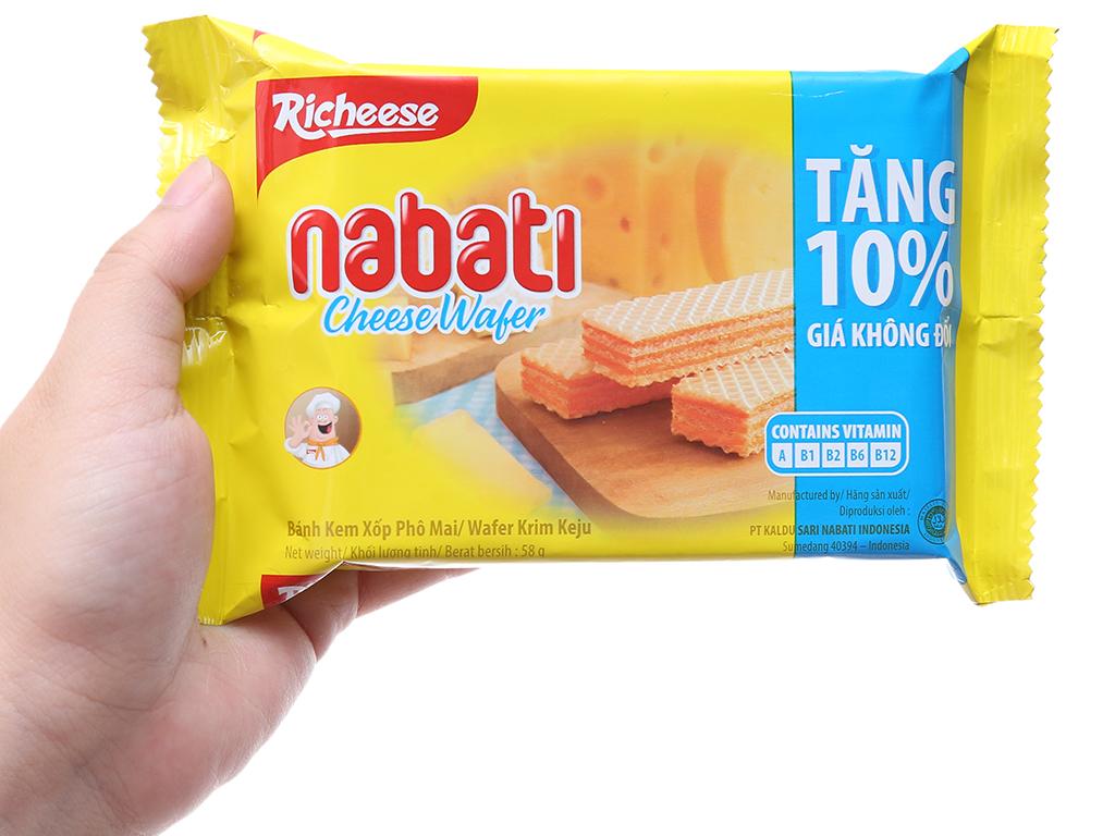 Bánh xốp nhân phô mai Nabati gói 58g 5