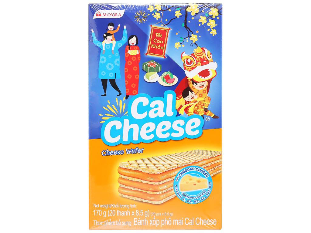 Bánh xốp nhân phô mai Cal Cheese hộp 170g 1