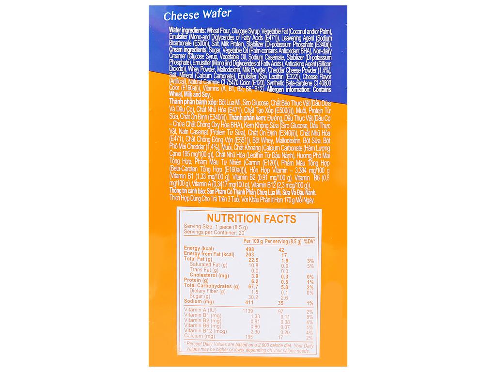Bánh xốp nhân phô mai Cal Cheese hộp 170g 2
