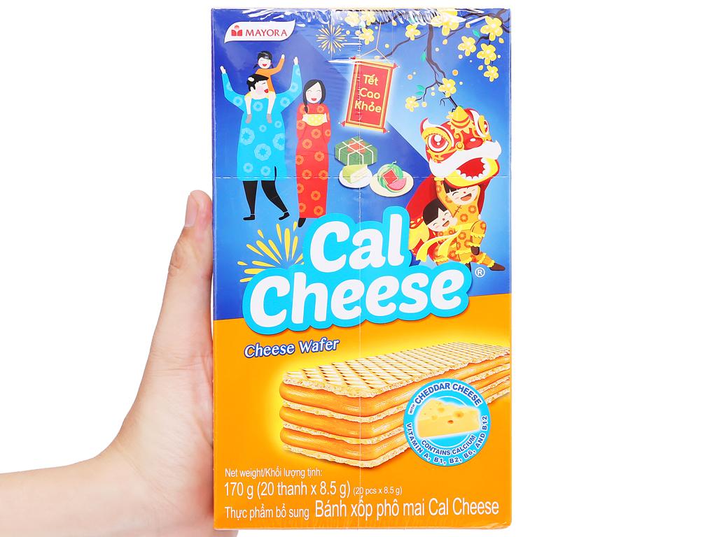 Bánh xốp nhân phô mai Cal Cheese hộp 170g 5