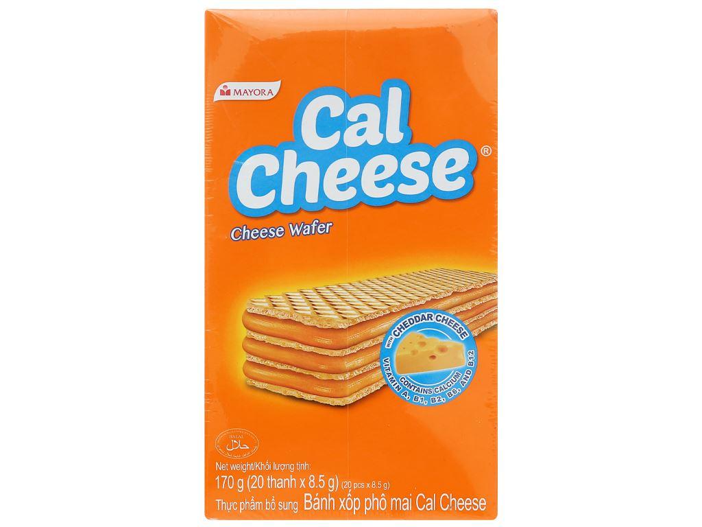 Bánh xốp nhân phô mai Cal Cheese hộp 170g 9