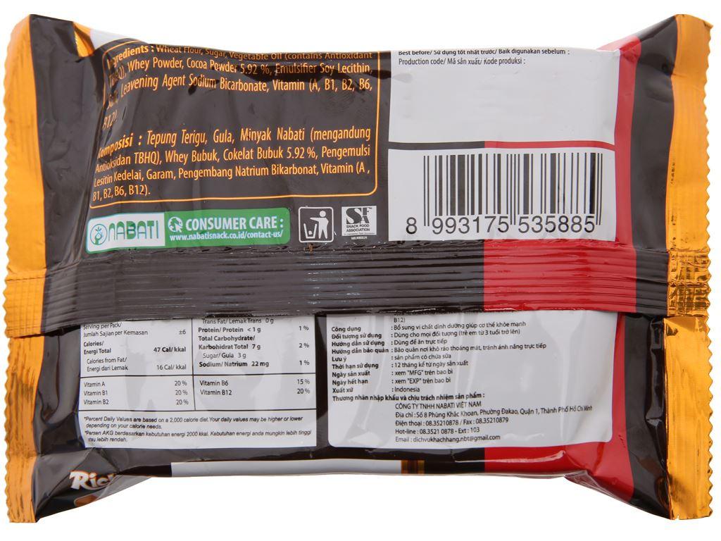 Bánh xốp nhân socola Nabati gói 58g 2