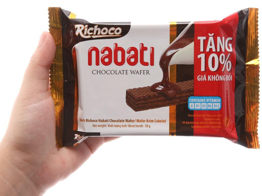 Bánh xốp nhân socola Nabati gói 58g 3