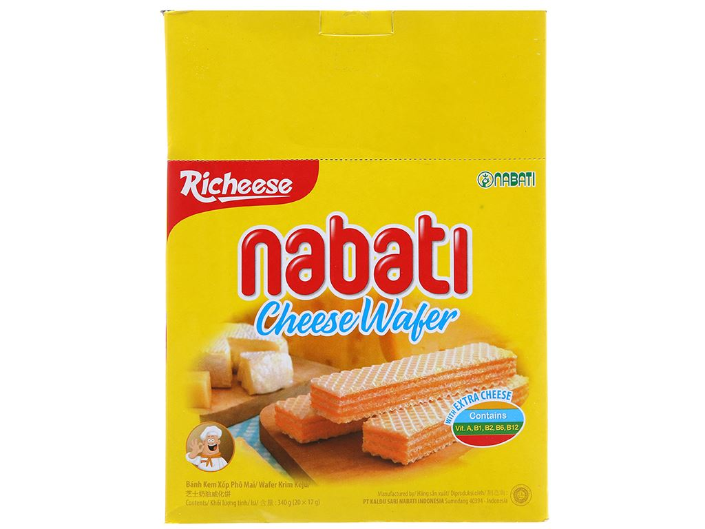Bánh xốp nhân phô mai Nabati hộp 340g 1