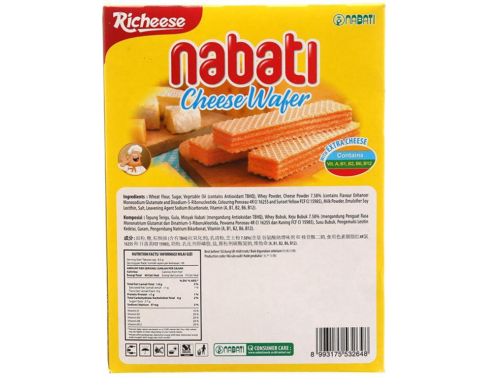Bánh xốp nhân phô mai Nabati hộp 340g 2