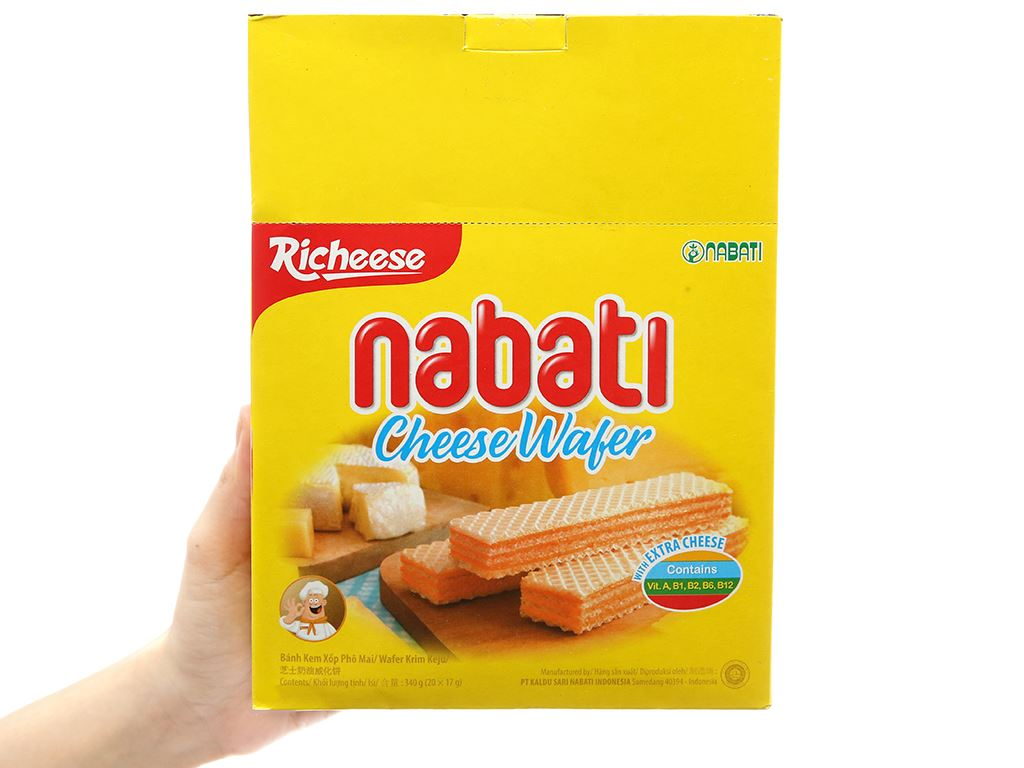 Bánh xốp nhân phô mai Nabati hộp 320g 3