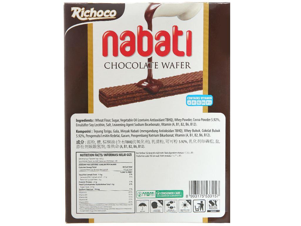 Bánh xốp nhân socola Nabati hộp 340g 2
