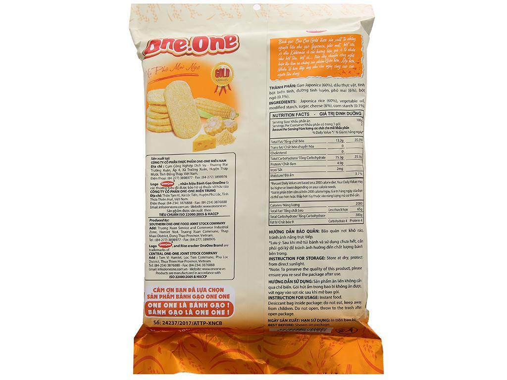 Bánh gạo ngọt vị phô mai bắp One One gói 118g 3