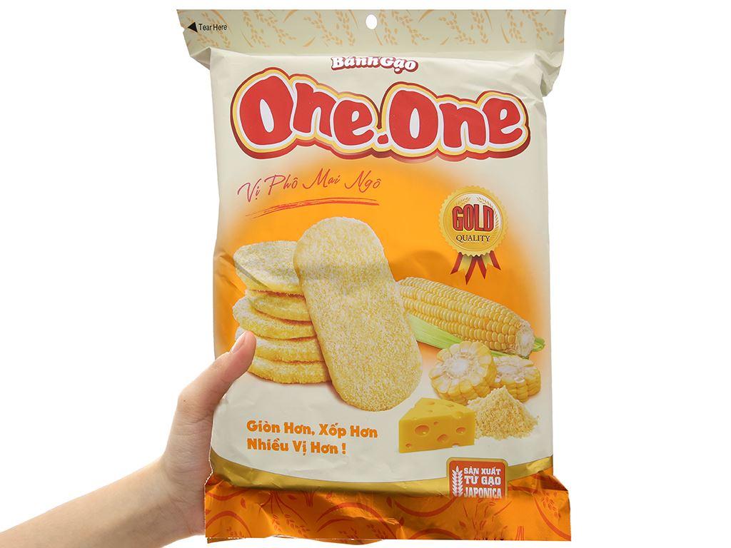 Bánh gạo ngọt vị phô mai bắp One One gói 118g 5