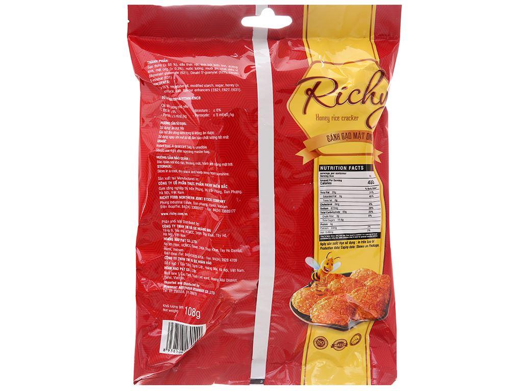 Bánh gạo mật ong Richy gói 108g 3