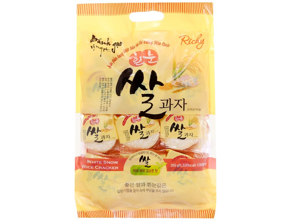 Bánh gạo vị ngọt Richy gói 315g 1