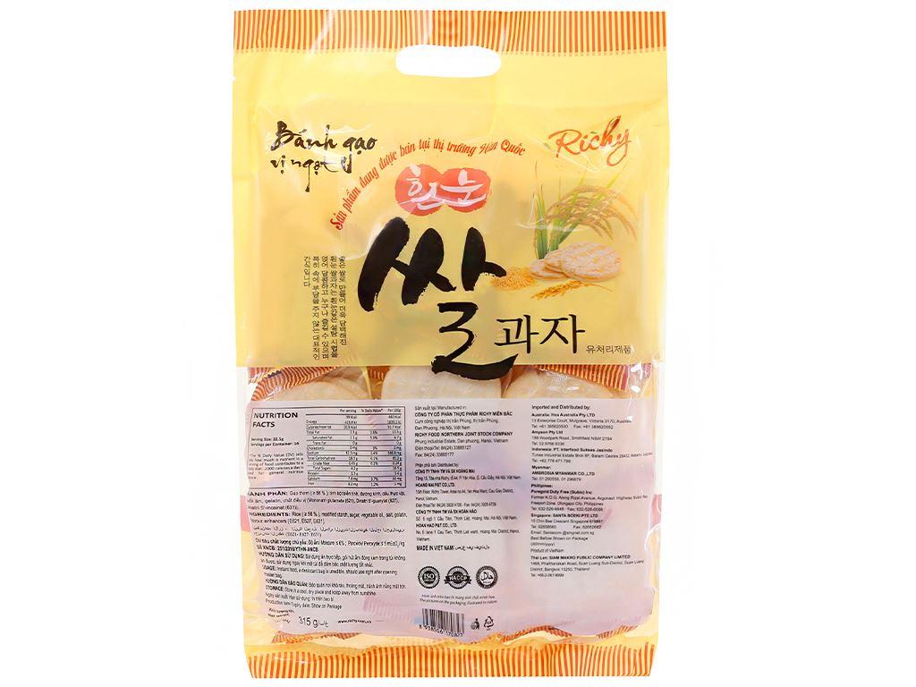 Bánh gạo vị ngọt Richy gói 315g 2