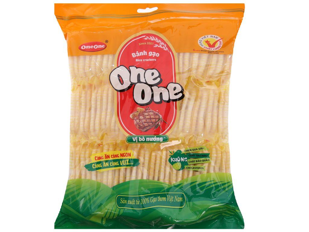 Bánh gạo vị bò nướng One One gói 230g 2