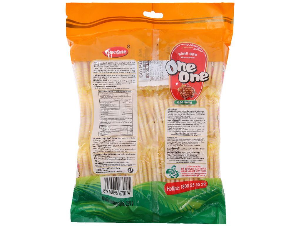 Bánh gạo vị bò nướng One One gói 230g 3